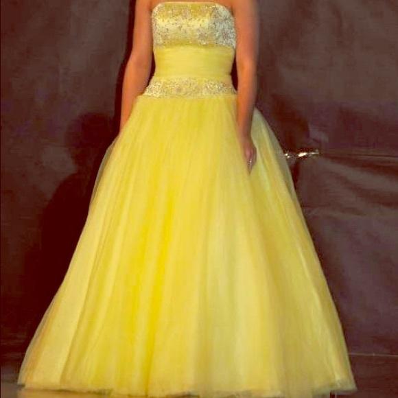 Dresses   Beautiful Yellow Ball Gown   Poshmark